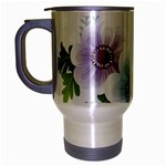 Flower028 Travel Mug (Silver Gray)