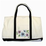 Flower028 Two Tone Tote Bag