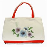 Flower028 Classic Tote Bag (Red)