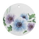 Flower028 Round Ornament (Two Sides)