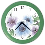 Flower028 Color Wall Clock