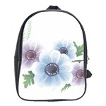 Flower028 School Bag (Large)
