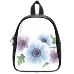 Flower028 School Bag (Small)