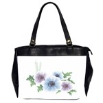 Flower028 Oversize Office Handbag (Two Sides)