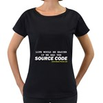Source code Maternity Black T-Shirt