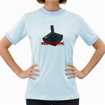 Old School Gamer Women s Fitted Ringer T-Shirt