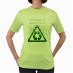 Recycled Electrons Women s Green T-Shirt