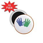 Hand 1.75  Magnet (10 pack)