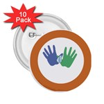 Hand 2.25  Button (10 pack)