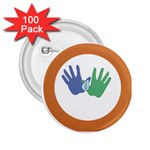 Hand 2.25  Button (100 pack)