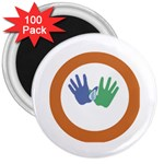 Hand 3  Magnet (100 pack)