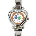 Hand Heart Italian Charm Watch