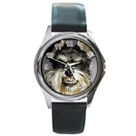Animals Dogs Funny Dog 013643  Round Metal Watch