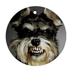 Animals Dogs Funny Dog 013643  Ornament (Round)