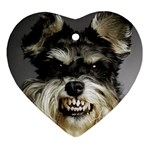 Animals Dogs Funny Dog 013643  Ornament (Heart)