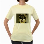 Animals Dogs Funny Dog 013643  Women s Yellow T-Shirt