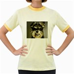 Animals Dogs Funny Dog 013643  Women s Fitted Ringer T-Shirt