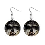 Animals Dogs Funny Dog 013643  1  Button Earrings