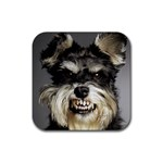 Animals Dogs Funny Dog 013643  Rubber Coaster (Square)
