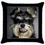 Animals Dogs Funny Dog 013643  Throw Pillow Case (Black)