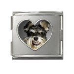 Animals Dogs Funny Dog 013643  Mega Link Heart Italian Charm (18mm)
