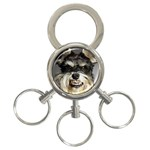 Animals Dogs Funny Dog 013643  3-Ring Key Chain