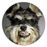 Animals Dogs Funny Dog 013643  Magnet 5  (Round)