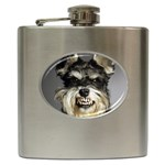 Animals Dogs Funny Dog 013643  Hip Flask (6 oz)