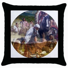 !ndn5 Throw Pillow Case (Black) from ArtAttack2Go Front