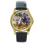 !ndn5 Round Gold Metal Watch