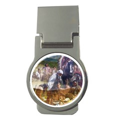 !ndn5 Money Clip (Round) from ArtAttack2Go Front