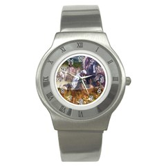 !ndn5 Stainless Steel Watch from ArtAttack2Go Front