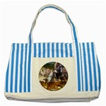 !ndn5 Striped Blue Tote Bag