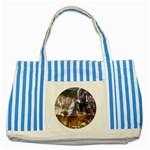 !ndn5 Striped Blue Tote Bag