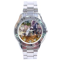 !ndn5 Stainless Steel Analogue Men's Watch from ArtAttack2Go Front