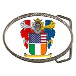 Half Irish American Crest (2) Belt Buckle