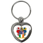 Half Irish American Crest (2) Key Chain (Heart)