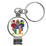 Half Irish American Crest (2) Nail Clippers Key Chain