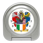 Half Irish American Crest (2) Travel Alarm Clock