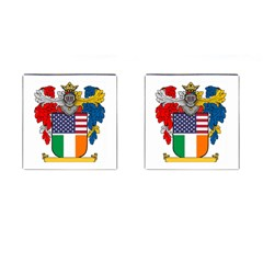 Half Irish American Crest (2) Cufflinks (Square) from ArtAttack2Go Front