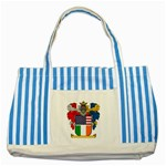 Half Irish American Crest (2) Striped Blue Tote Bag