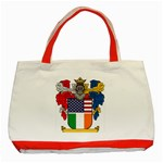 Half Irish American Crest (2) Classic Tote Bag (Red)