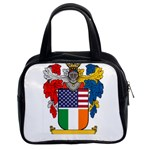 Half Irish American Crest (2) Classic Handbag (Two Sides)