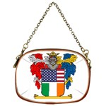 Half Irish American Crest (2) Chain Purse (One Side)