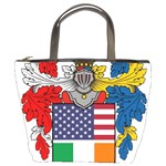 Half Irish American Crest (2) Bucket Bag