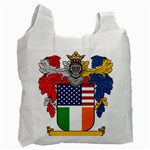 Half Irish American Crest (2) Recycle Bag (One Side)