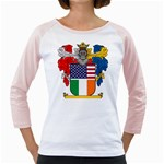 Half Irish American Crest (2) Girly Raglan
