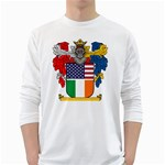Half Irish American Crest (2) Long Sleeve T-Shirt