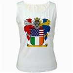 Half Irish American Crest (2) Women s Tank Top
