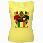 Half Irish American Crest (2) Women s Yellow Tank Top